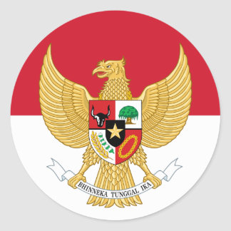 indonesia emblem classic round sticker