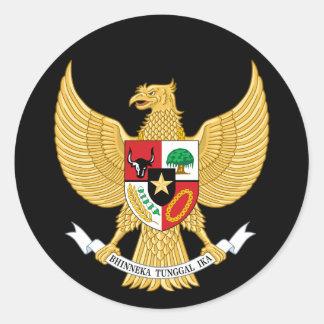 indonesia emblem round sticker