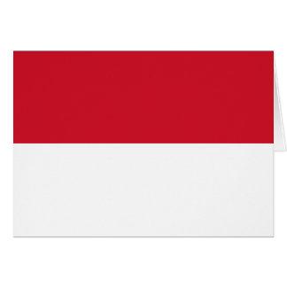 Indonesia Flag Greeting Card