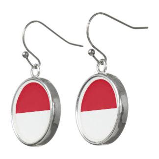 Indonesia Flag Earrings