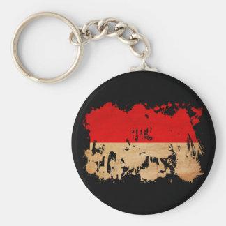 Indonesia Flag Key Ring