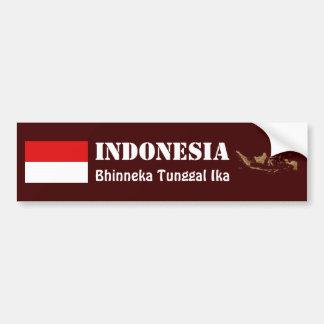 Indonesia Flag + Map Bumper Sticker