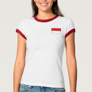 Indonesia Flag + Map T-Shirt