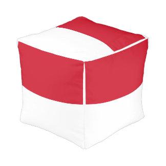 Indonesia Flag Pouf