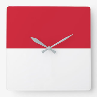 Indonesia Flag Square Wall Clock