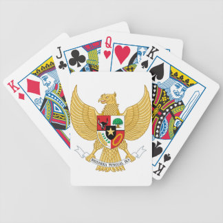 Indonesia, ID, Coat of arms Bicycle Playing Cards