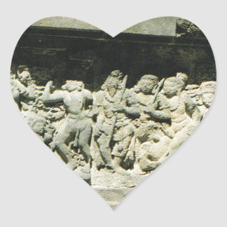 Indonesia,  Java, Ramayana carving, Prambanan Heart Sticker