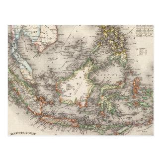 Indonesia, Malaysia Postcard