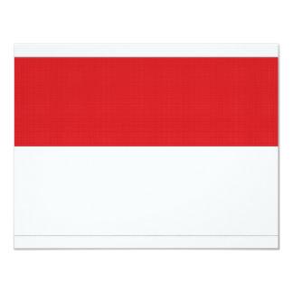 Indonesia National Flag 11 Cm X 14 Cm Invitation Card