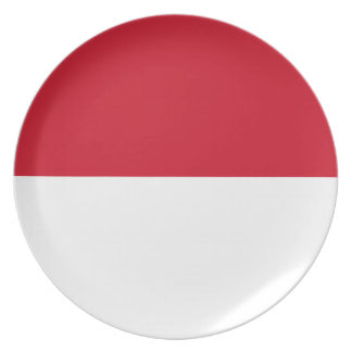 Indonesia National World Flag Plate