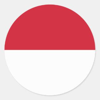 indonesia round sticker