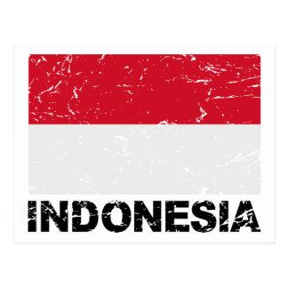 Indonesia Vintage Flag Postcard