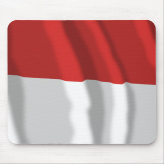 Indonesia Waving Flag Mouse Pad