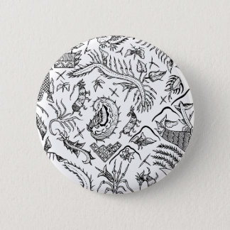 Indonesian Insects & Plants Textile Pattern 6 Cm Round Badge