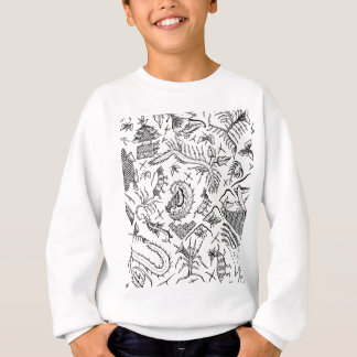 Indonesian Insects & Plants Textile Pattern Sweatshirt