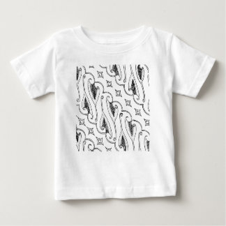 Indonesian Leaf Textile Pattern with Diamonds Baby T-Shirt