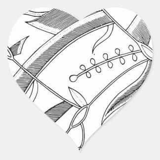 Indonesian Leafy Textile Heart Sticker