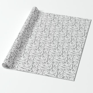 Indonesian Leafy Textile Wrapping Paper
