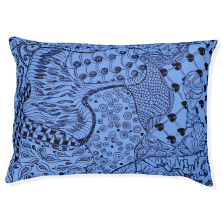 Indoor Dog Bed - Large.  Blue Hippie Dippie Design