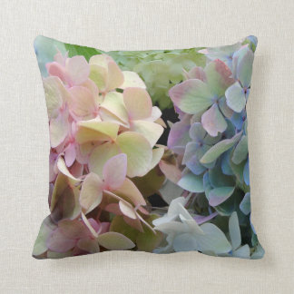 Indoor Hydrangea Garden Macro Photography Throw Pillow