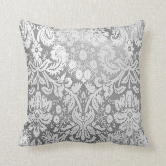 indoor or outdoor pillow abstract scroll grey