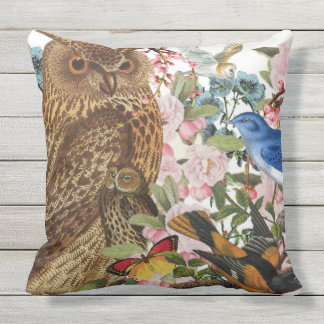 Indoor/Outdoor OWL Throw Pillow /Customizable