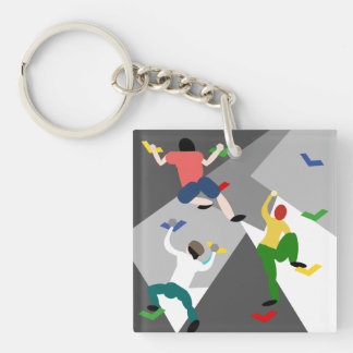 Indoor Rock Climbing Key Ring