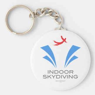 Indoor Skydiving Basic Round Button Key Ring