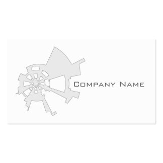 industrial abstract design white pack of standard business cards