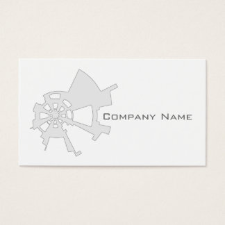 industrial abstract design white business card