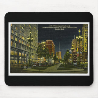 Industrial Bank Building and Book Cadillac Hotel Mouse Pad