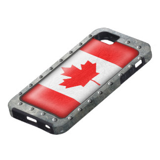 Industrial Canadian Flag Tough iPhone 5 Case