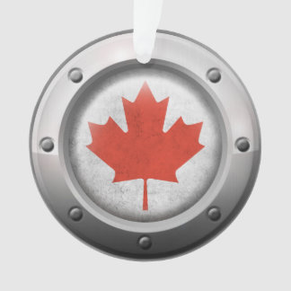 Industrial Canadian Flag with Steel Graphic