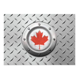 Industrial Canadian Flag with Steel Graphic Personalized Announcements