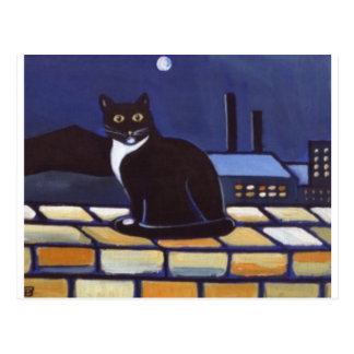 Industrial Cat Postcard
