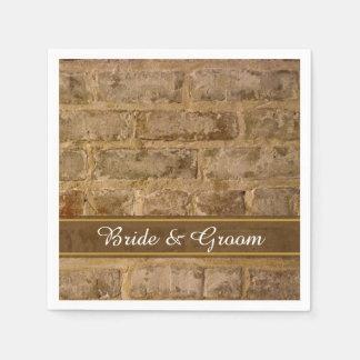 Industrial Chic Bricks Wedding Disposable Napkin