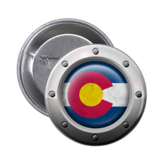 Industrial Colorado Flag with Steel Graphic Pin