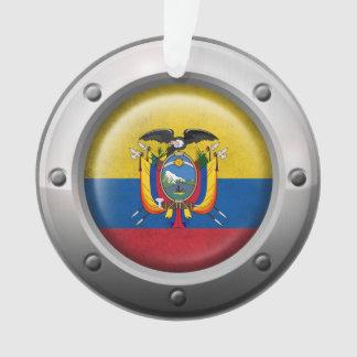 Industrial Ecuadorian Flag with Steel Graphic
