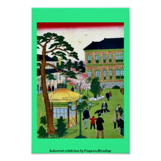 Industrial exhibition by Utagawa,Hiroshige Poster