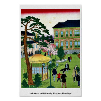 Industrial exhibition by Utagawa,Hiroshige Print