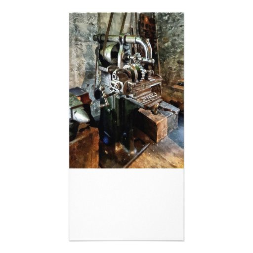 Industrial Gear Cutting Machine Personalized Photo Card