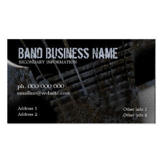 Industrial Grunge Guitar Business Card