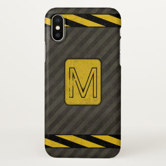 Industrial Grunge Monogram iPhone X Case