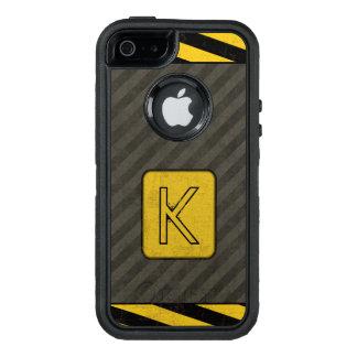 Industrial Grunge Monogram OtterBox iPhone 5/5s/SE Case