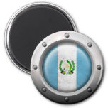 Industrial Guatemalan Flag with Steel Graphic
