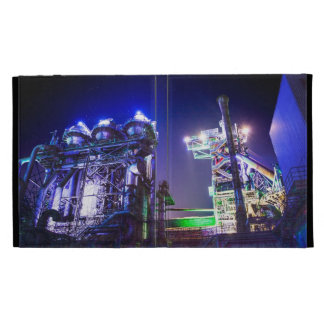 Industrial HDR photography - Steel Plant 2 iPad Folio Case