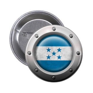 Industrial Honduras Flag with Steel Graphic Pin
