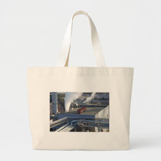 Industrial infrastructure, buildings and pipeline large tote bag
