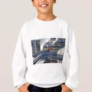 Industrial infrastructure, buildings and pipeline sweatshirt