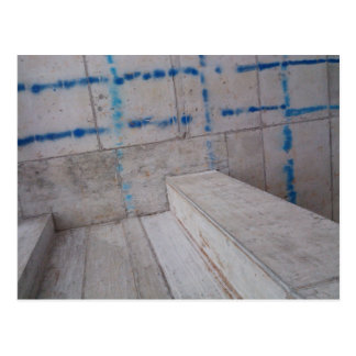 Industrial interior concrete building postcards